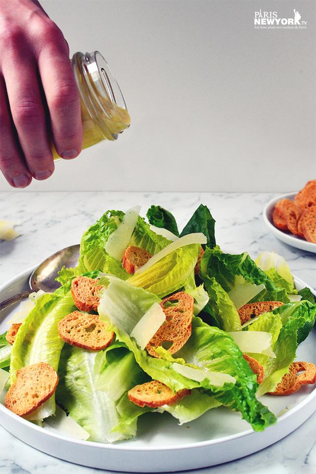 La vraie salade César - Recette Paris-NewYork.tv © photo Aurélie Garreau