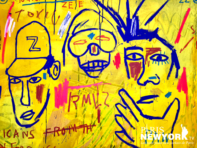 oeuvre Jean Michel Basquiat au Whitney Museum New York