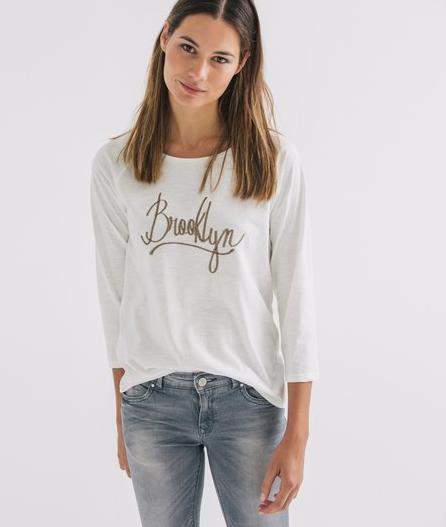 T-shirt Brooklyn imprimé chez Promod collection hiver 2015-2016