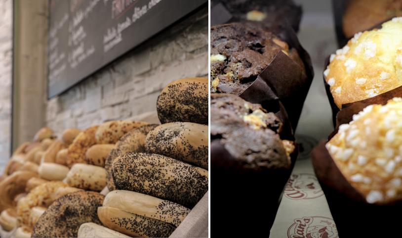 bagels et muffins américains chez allan's rue d'assas à paris