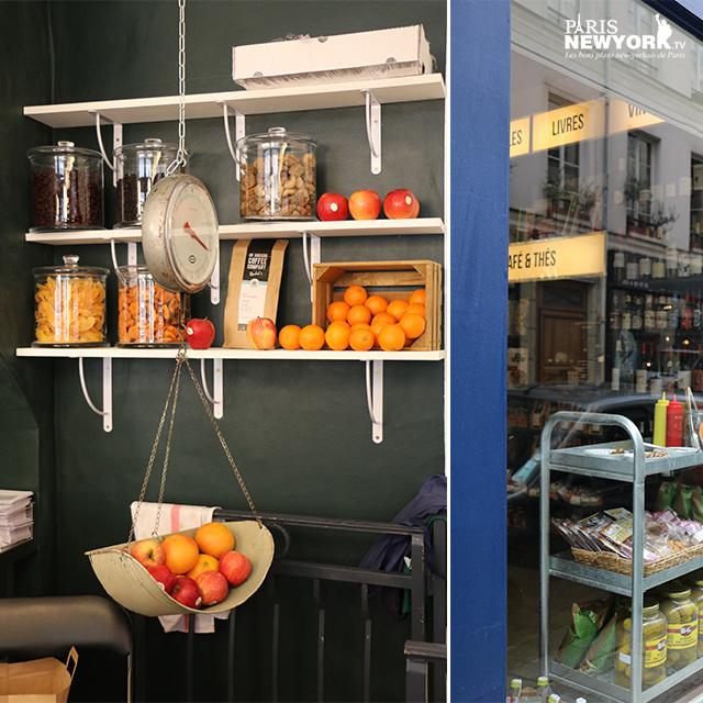 fruits en vente dans l'épicerie rachel's grocery à paris