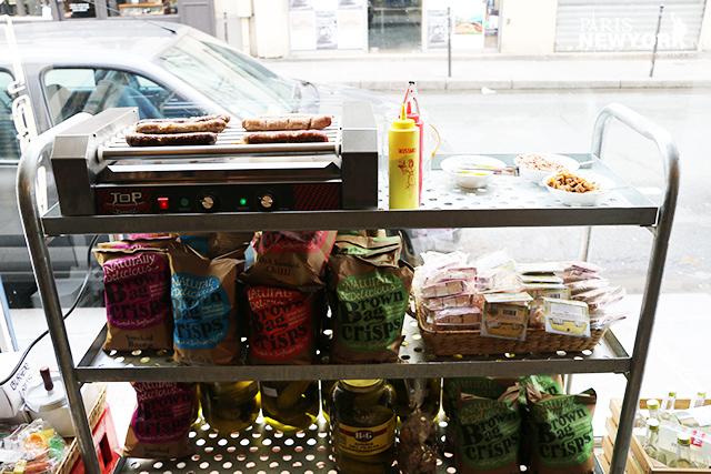hot dogs new-yorkais chez rachel's grocery à Paris