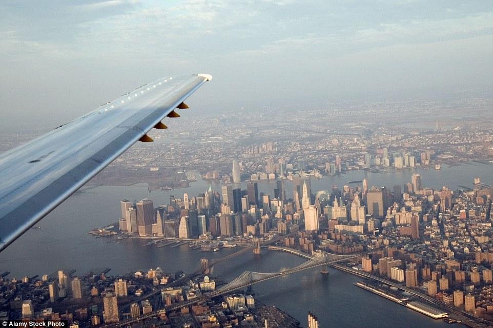 vol d'avion vers new york