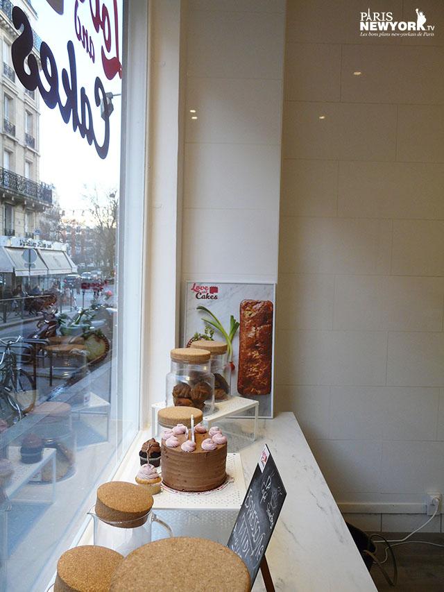 la devanture de love and cakes new york à paris