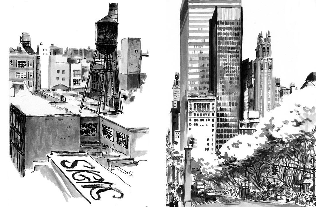 Marielle Durand : carnets de voyage new-yorkais