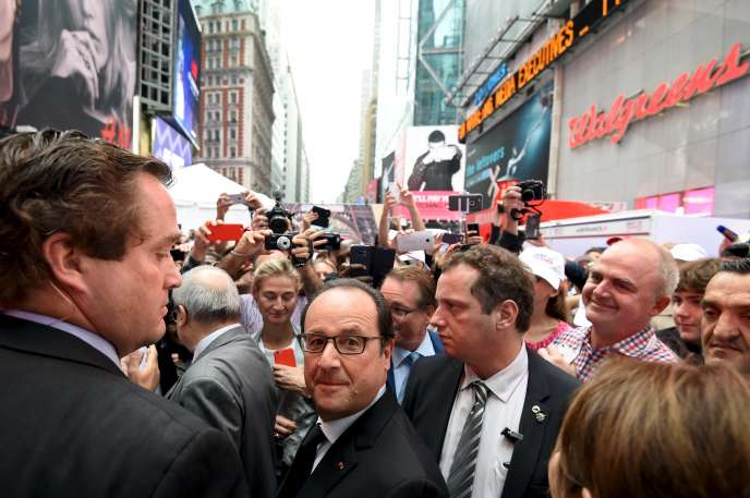 François Hollande arpente Times Square à New York